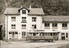 BDe 2/2 3 in Matt-Station am 27. 5. 1969