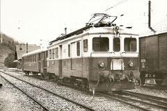 ABDe 4/4 5 mit Bt 33 in Orsière am 5. 9. 1965