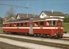 Triebwagen BDe 4/4 101 in Bonfol am 3. 11. 1983