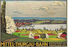 Plakat für die Mittel-Thurgau-Bahn von E. E. Schlatter, 1911