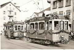 Abschiedsfahrt am 11. 11. 1961 Be 2/2 24 + 25