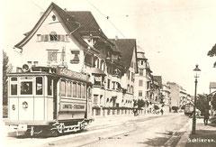 Motorwagen 6 in Schlieren um 1920