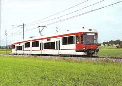 Elektrischer Niederflur-Triebwagen ABe 4/8 65 am 9. 6. 1992