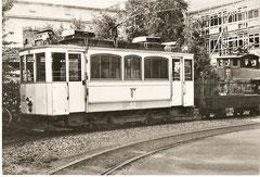 TrL-Dienstzug mit Schweisswagen Xe 2/2 82 in Kriens am 6. 9. 1956