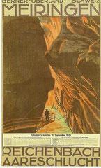 Plakat für die Meiringen - Aareschlucht-Bahn, 1924