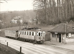 Be 4/4 33 + B 15 am 28. 3. 1974 in Vechingen