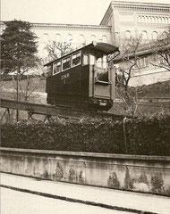 Wagen Nr. 1 war in  Betrieb von 1914 - 1973