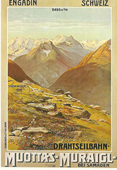 Plakat für die Mouttas-Muraigl-Bahn, 1908