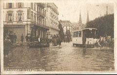Hochwasser 1910, gestempelt 18. 11. 1911