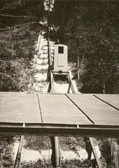 Eine Kabine der Pendelbahn