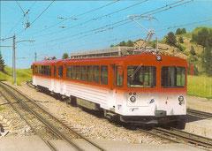 Pendelzug BDhe 2/4 21 + Steuerwagen Bt 31 in rigi Staffel, 20. 6. 2003