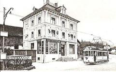 Gleichstromtram 1914 in Seewen