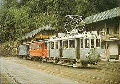 BCFe 2/2 4 mit B 13 + 12 am 20. 8. 1967 in Schwanden