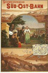 Plakat für die Schweizerische Südostbahn von Melchior Annen, 1899