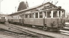 BCe 4/4 2 von 1905 mit 2 B4 von 1887