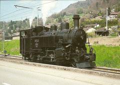 Restaurierte Dampflok H 3/4 Nr. 3 der BFD