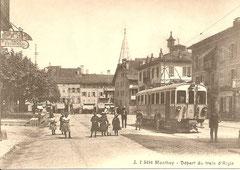 CFZe 4/4 11 an der Endstation in Monthey um 1910