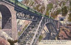Bietschtalviadukt Länge 120 Meter , Höhe 80 Meter