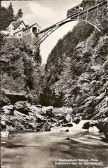 Bahnbrücke über die Muotaschlucht