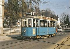 Tramwagen Be 2/2 35 im Frühjahr 1961
