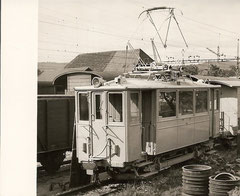 Xe 2/2 12 in der Güteranlage Suhr am 2. 6. 1951