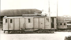 Fe 4/4 41 um 1950 in Aarau dahinter SBB-X