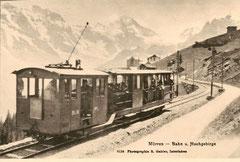 Ge 2/2 1 + C 1 um 1895 ausgängs Mürren