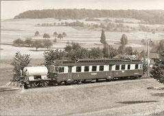 X2 211 + BDe 4/4 1'' bei Samensdorf am 3. 6. 1977