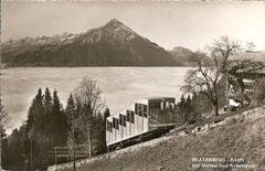 Beatenbergbahn mit Niesen, gelaufen am 13. 10. 1954