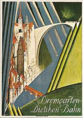 Plakat der Bremgarten-Dietikon-Bahn, 1928 von Otto Morach