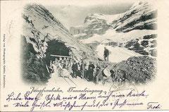 Jungfraubahn, Tunneleingang, gelaufen 2. 10. 1900