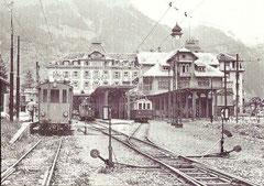 Alte Bahnhofanlage Engelberg mit Tw 3, 2 und 11