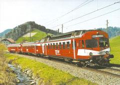 RBDe 566 220, ABt 920+B 505  zwischen Biegental und Schafhausen, 16. 4. 2006