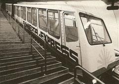 Zermatt - Sunegga Bahn im Dezember 1980