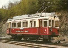 Eletrischer Zahnradtriebwagen CF 3/3 3 In Hersisau 6.5. 1982