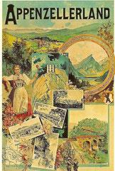 Plakat für Verkehrsvereine Appenzellerland, 1908, M. Annen