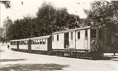 Gütertriebwagen BWB Fe 4/4 31 in Bern um 1928