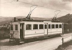 TB CFe 4/4 Nr. 4 nach der Montage der Lyrabügel 1922, bei Vögelinsegg