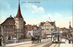 Auf der Seebrücke, gestempelt 3. 5. 1922