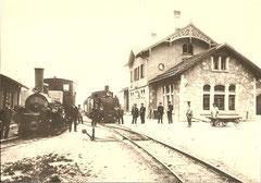 Alte Station Gais mit beiden ASt-Dampfloktypen um 1910