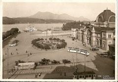Bahnhofplatz, gestempelt 30. 8. 1931