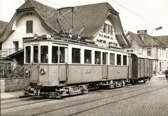 BFe 4/4 15 + K 68 am 28. 8. 1958 in Oberentfelden
