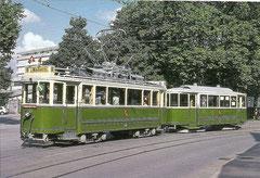 Ce 4/4 145 + C4 311 am Breitenrainplatz, 3. 9. 1994