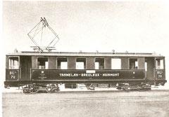 BCe 2/4 70 der TBN (SWS/BBC 1913)
