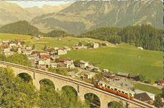 Bahn auf der Strecke nach Leysin, gelaufen 18. 9. 1963