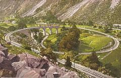 Berninabahn bei Brusio, ungelaufen