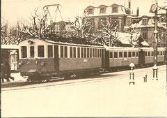 Bern Kirchfeld um 1945 mit ex-BWB Personenwagen Serie 1-6 + Ce 4/4 3