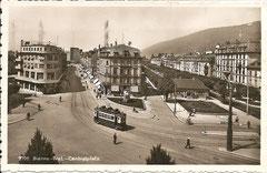 Strassenbahn am Centralplatz, gelaufen 7. 6. 1940
