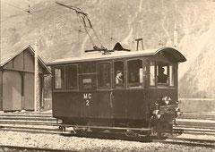 Lokomotive He 2/2 2 im Depot Vernayaz, 1906