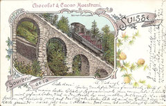 Stanseilbahn, Karte gelaufen 31. 7. 1898